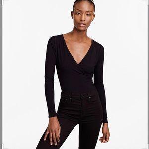 J. Crew wrap body suit black size Medium